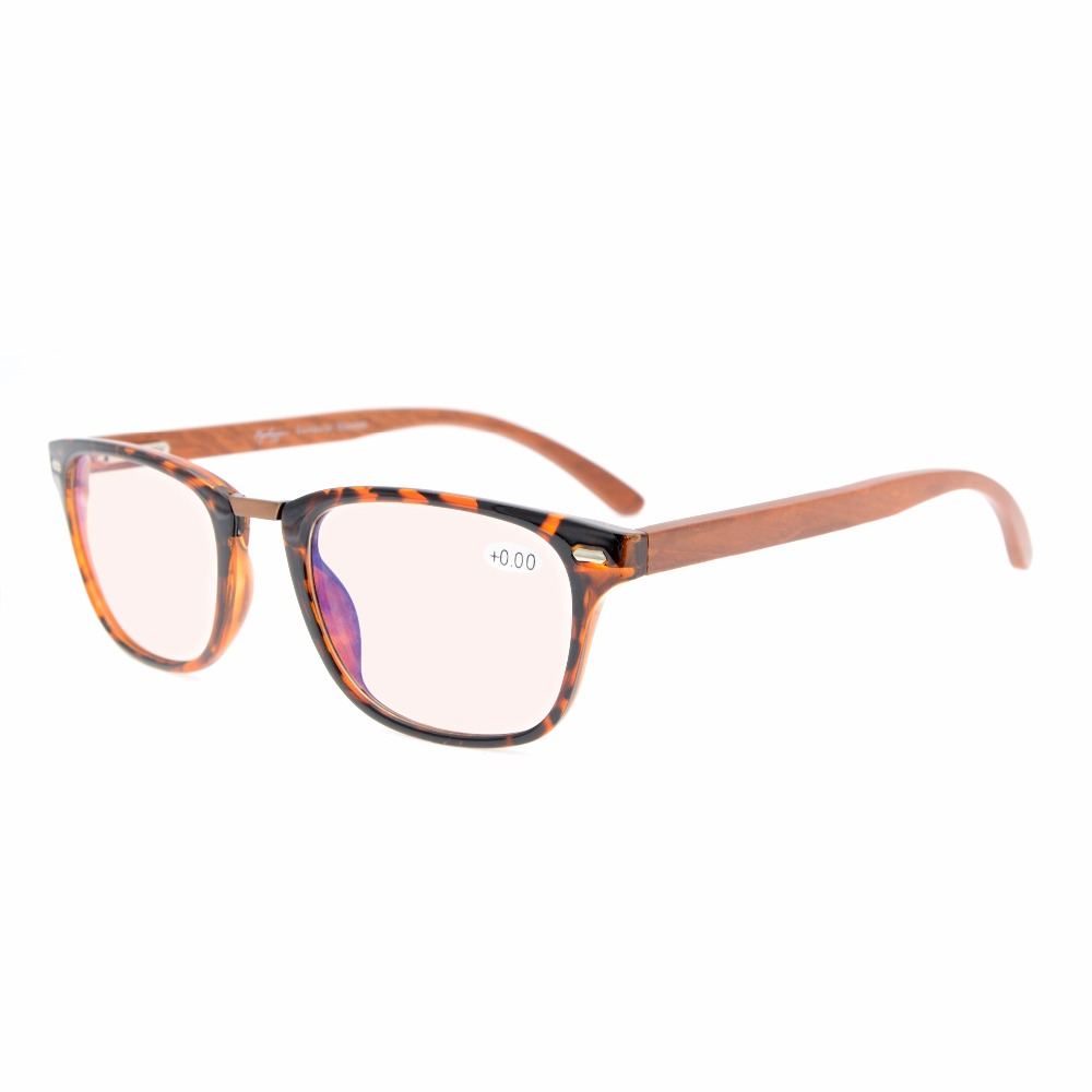 452a49aee0d4 CG121 Eyekepper Amber Tinted Lenses Computer Readers Spring Hinges Wood  Arms Vintage Computer Reading Glasses +0.00---+4.00