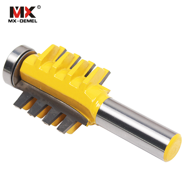 MX-DEMEL Glue Wood Router Bit 1/4 Shank Alloy Mortise Template Joint Rail Stile Finger 1/4 Inch Shank Woodworking Machinery Tool