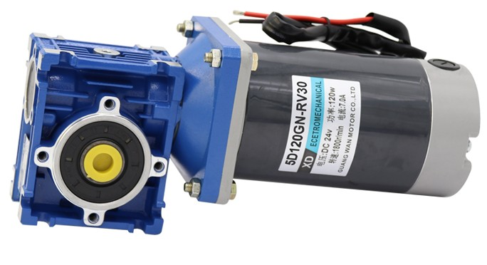 12V 24V DC motor 120W DC gear motor RV30 low speed motor with self-locking can adjust the speed motor dc motor speed drive dc gear microcontroller