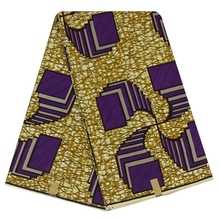 Yellow Geometric Design African Ankara Fabric,African Fabric Wax 2019 New 6 Yards Whole YBGHL-124