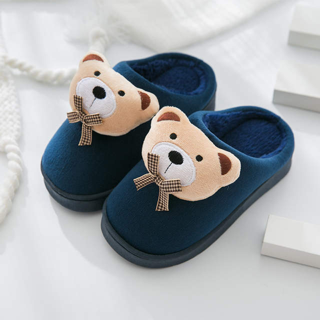 top fashion temperament shoes online retailer US $11.16 24% OFF Children Slippers kids Girls Boys Home Shoes Winter  Indoor Warm Cotton Cartoon Cute Slippers Baby Toddler shoes-in Slippers  from ...