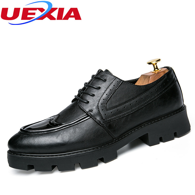 UEXIA Pointed Toe Men Wedding Shoes Blue Red Man Dress Shoes Spring Autumn  Social Footwear Rubber ... 22e39c208f6e