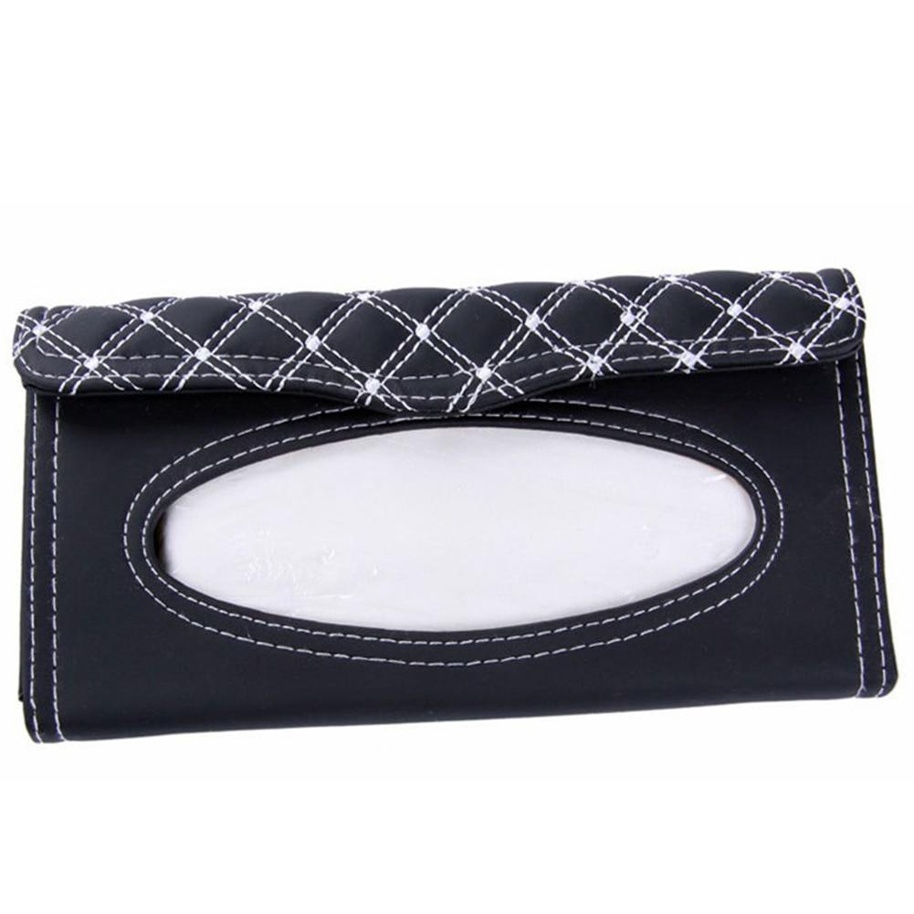 Car Sun Visor Leather Tissue Boxes Land Auto Interior Decoration Accessorie