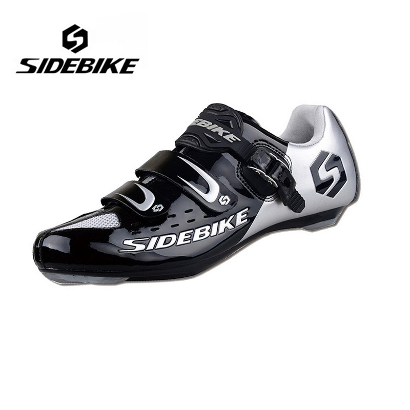 SIDEBIKE Men Women Lightweight Highway Road Bike Cycling Shoes Self-Locking Bicycle Racing Athletic Shoes zapatillas de ciclismo sidebike mens road cycling shoes breathable road bicycle bike shoes black green 4 color self locking zapatillas ciclismo 2016