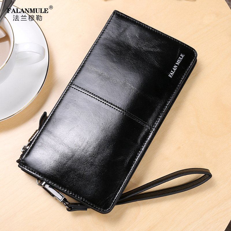 FALANMULE 2017 Luxury Brand Men Wallets Long Men Purse Wallet Male Clutch Genuine Leather Wallet  carteira Men Business Male Wal 2017 luxury brand men genuine leather wallet top leather men wallets clutch plaid leather purse carteira masculina phone bag