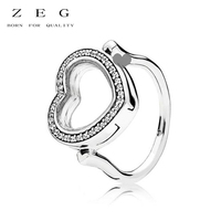ZEG High Quality 100% Sliver Official Copy 1:1 Pan & Love Ring Have Logo Women Fashion Jewerly Free Mail