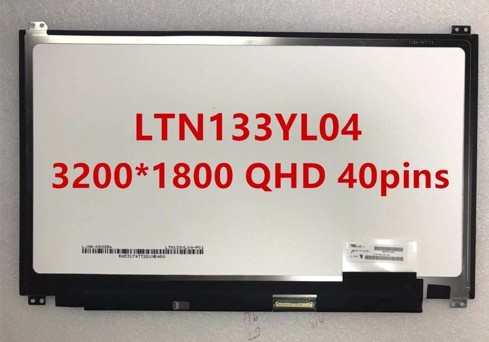 LAPTOP LCD SCREEN FOR ASUS UX305 UX305FA UX305CA UX305LA LTN133YL04 LTN133YL04-A01 3200*1800 EDP 40pins
