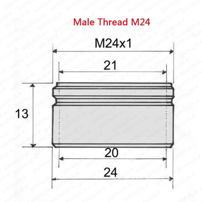 Купить с кэшбэком Bathroom Water Save Faucet Aerator  Spray Stream 3Liter/Min 5pcs per lot Made of Brass Chrome Finish Tap Water Aerator M24 Male
