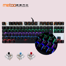 hot deal buy 2018 hot sale mechanical keyboard 87/104 keys blue red black switch gaming keyboards english/russian for tablet laptop pc gamer