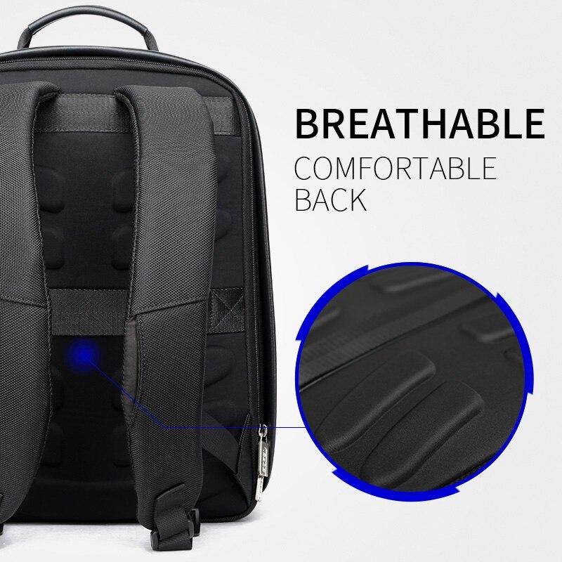 BOPAI Anti vol agrandir sac à dos USB Charge externe 15.6 pouces sac à dos pour ordinateur portable hommes étanche école sac à dos sacs pour adolescent - 5