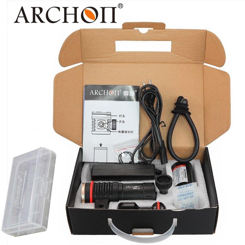 ARCHON DM10-II WM16-II lampe de poche vidéo de plongée 3500LM COB LED 100 m étanche torche de photographie vidéo sous-marine avec batterie pa