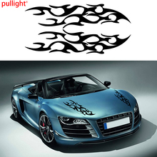 1Pair Universal Car Racing Sport Flames Fire Hood Decals Vinyl Graphics Stickers Decor