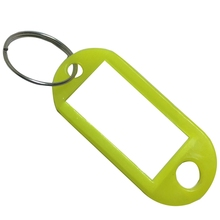 Colorful 5Pcs Plastic Cool Key Ring Tags Key Ring ID Identity Tags Rack Name Card Label Shop Price Free Shipping uv ink printed barcode card and plastic member key card 3 part supply