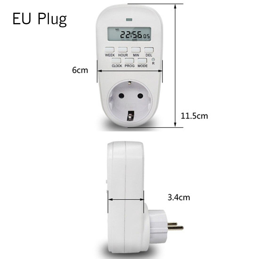 125V-250V Timer Socket Digital LCD Energy-saving Switch EU//US//UK Power Plug