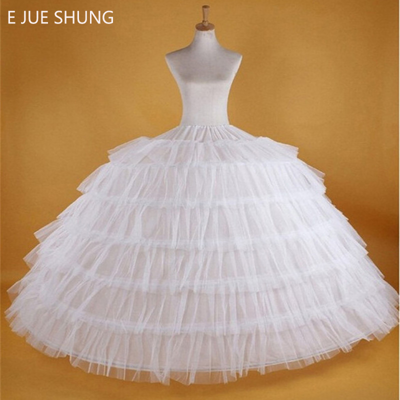 E JUE SHUNG 7 Hoops Super Puffy Petticoat Ball Gown Crinoline Slip Underskirt For Wedding Dress Wedding Accessories