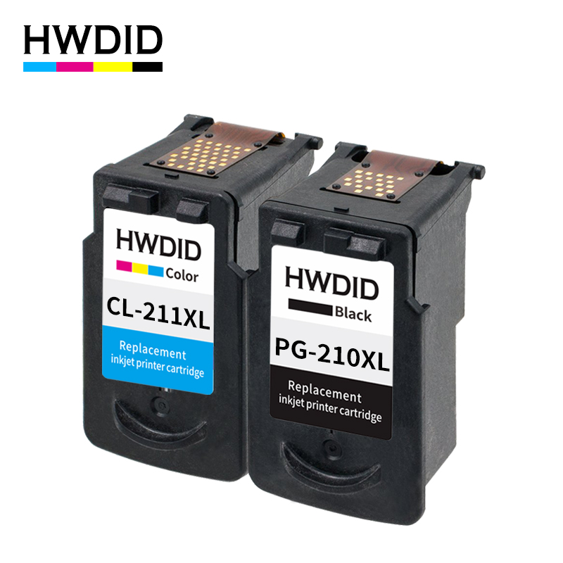 HWDID PG210 PG 210 CL211 XL ink cartridge replacement for Canon PG-210 CL-211 for Pixma IP2700 IP2702 MP240 MP250 MP260 MP270