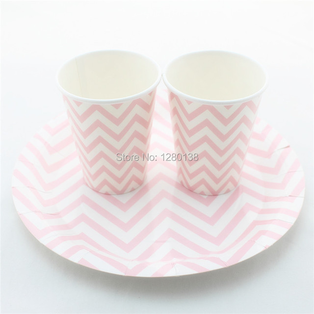 Free Shipping Disposable Party Paper Plates And Cups For Wedding Baby Shower Supplies