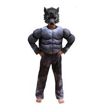 الفتيان بالذئب زي تأثيري الاطفال الأطفال هالوين الحيوان الذئب حلي يتوهم حزب اللباس بذلة مع قناع