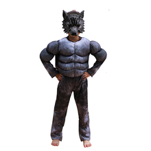 Jongens Weerwolf Kostuum Cosplay Kids Kinderen Halloween Animal Wolf Kostuum Fancy Party Dress Jumpsuit met Masker