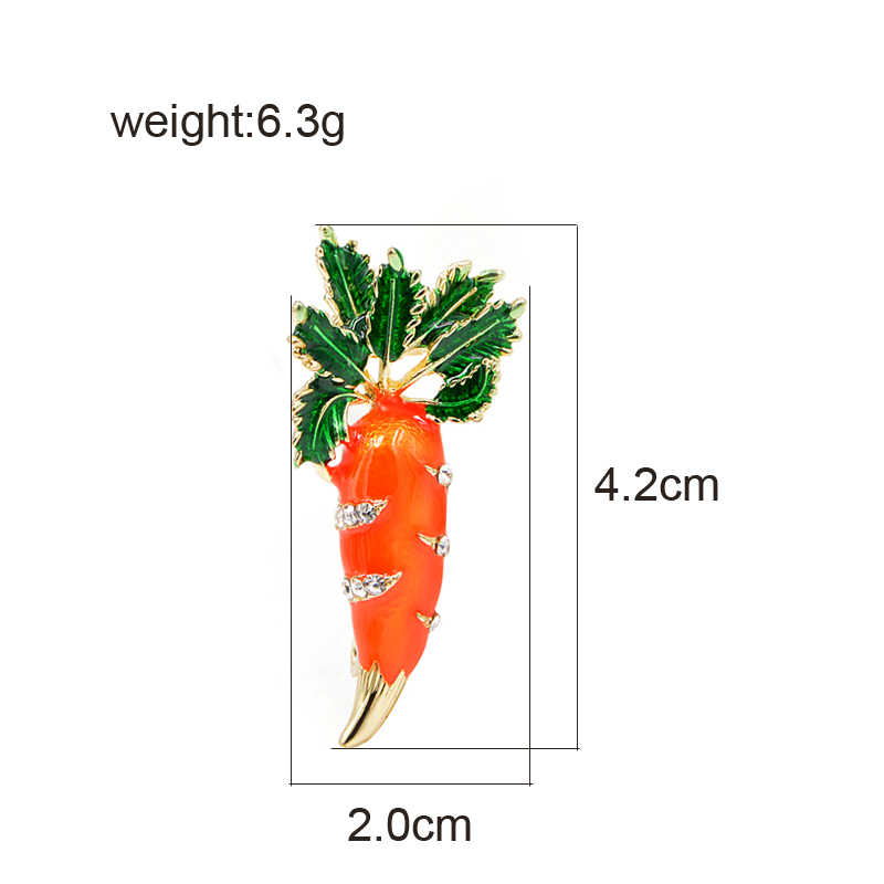 CINDY XIANG New Arrival Summer Style Carrot Brooch Pin For Women Fashion Plant Enamel Brooches Cute Small Badges Fashion Jewelry