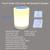 Toque inteligente CONDUZIU a lâmpada com lâmpada de mesa de toque bluetooth speaker speaker recarregável lâmpada de mesa de luz luz da noite da lâmpada