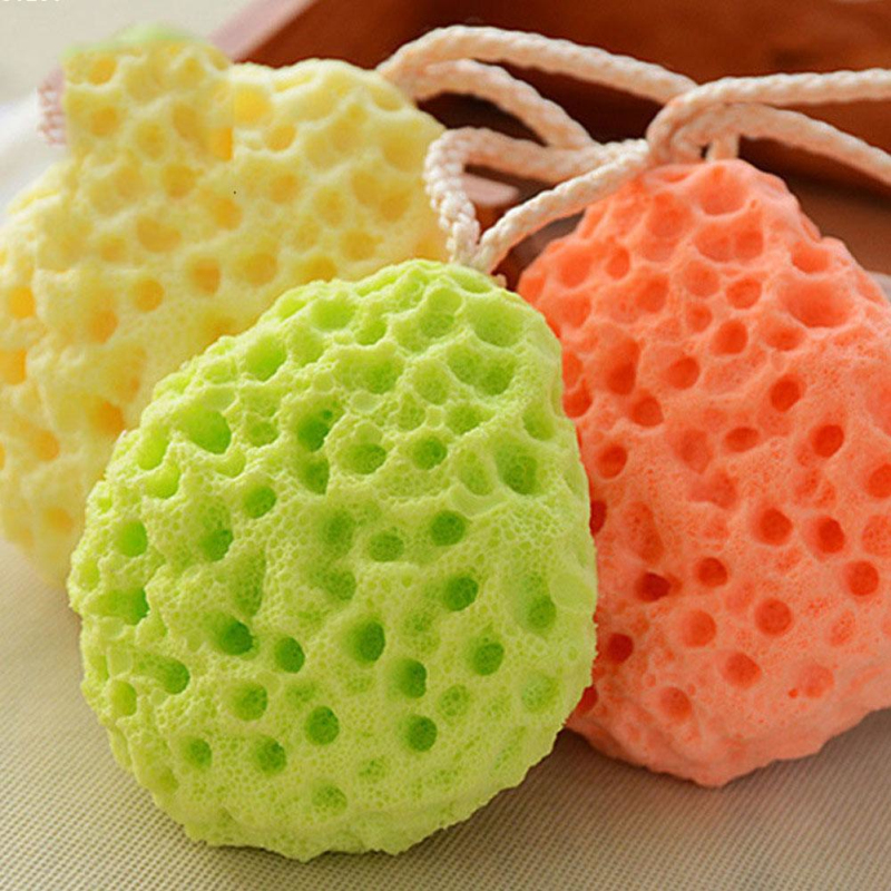 Honeycomb Shape Newborn Baby Kids Bath Sponge Brushes Massage Baby Shower Exfoliating Body Face Cleaning Scrubber Newest