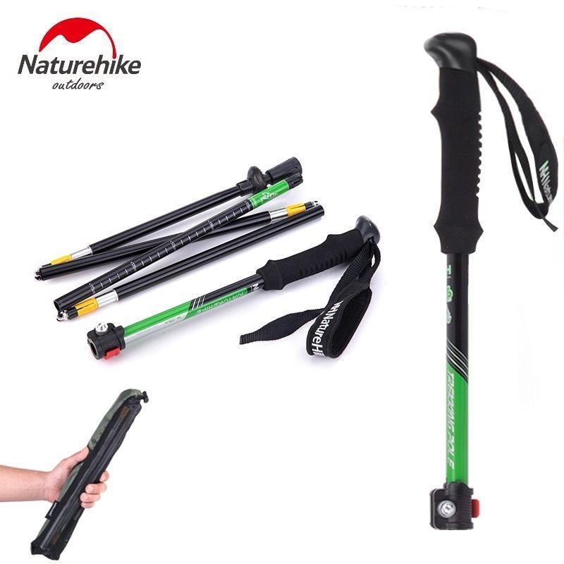 Naturetrekking 2 pièces/paire bâtons de marche nordique bâton de randonnée ultraléger bâton de marche pliant Trekking canne d'escalade NH15A023-Z - 4