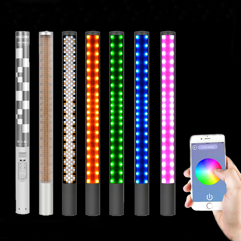 Yongnuo YN360 II CRI95 RGB 5500K Bi color 3200 5500K Handheld LED Video Fill Light Stick