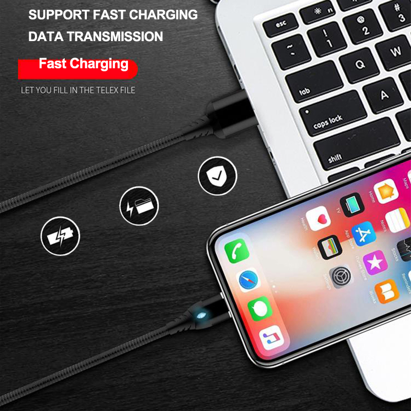 Image 5 - iONCT Magnetic Cable 3A fast charging for iPhone Samsung Android usb c mobile phone Magnet charger Type C Micro USB Cable data-in Mobile Phone Cables from Cellphones & Telecommunications