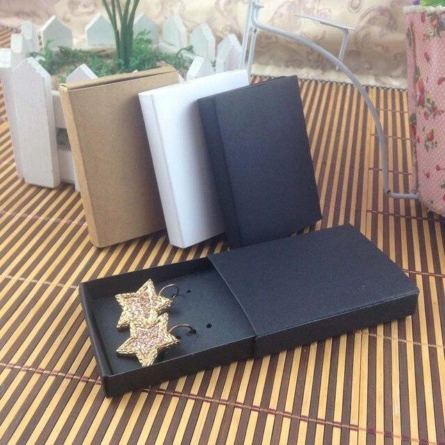 Sieraden kaart 100 stks + 100 pcsbox 7.5*5.4*1.2 cm Gift Hangend Match Oorbel Case, Custom Logo: 1000 stks Kosten Extra Zeep Sieraden Doos