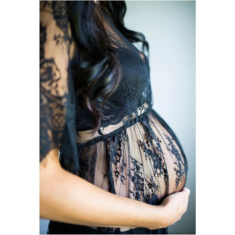 Sexy lace pregnant women dress pregnant mother photography photo fashion home clothing swimwear top in Sleep Lounge from Mother Kids