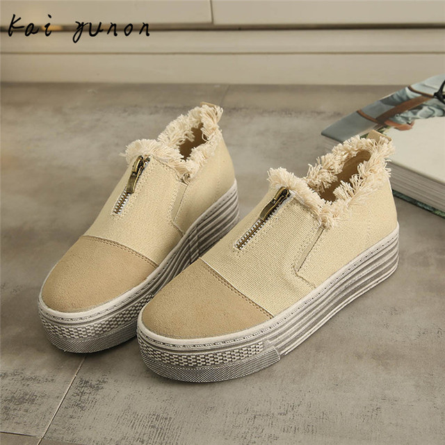 kai yunon Women Canvas Flats Shoes Slip On Comfort Shoes Flat Shoes Loafers Sep 14