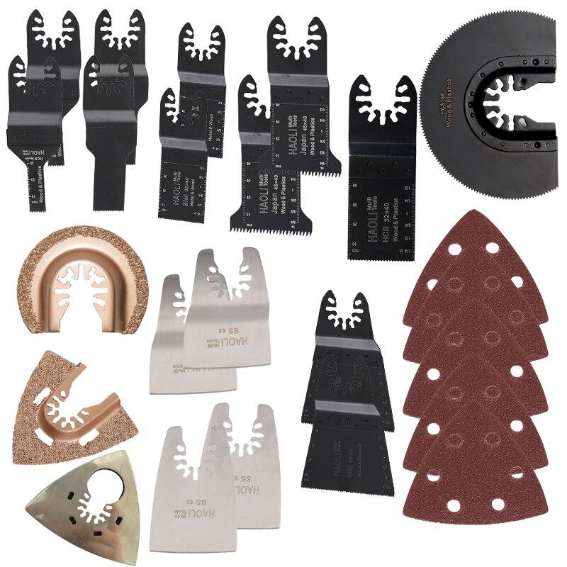 Oszillierende Multi-tool-sägeblätter 44 teile/schachtel Kit fit für Fein Multimaster Dremel Bosch Milwaukee maschinen Kostenloser Versand