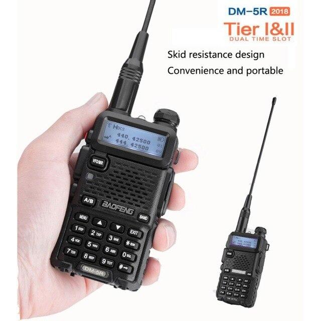 2 PCS Baofeng DM 5R Portable Digital Walkie Talkie CB Ham VHF UHF DMR Radio Station Double Dual Band Transceiver Boafeng Amador
