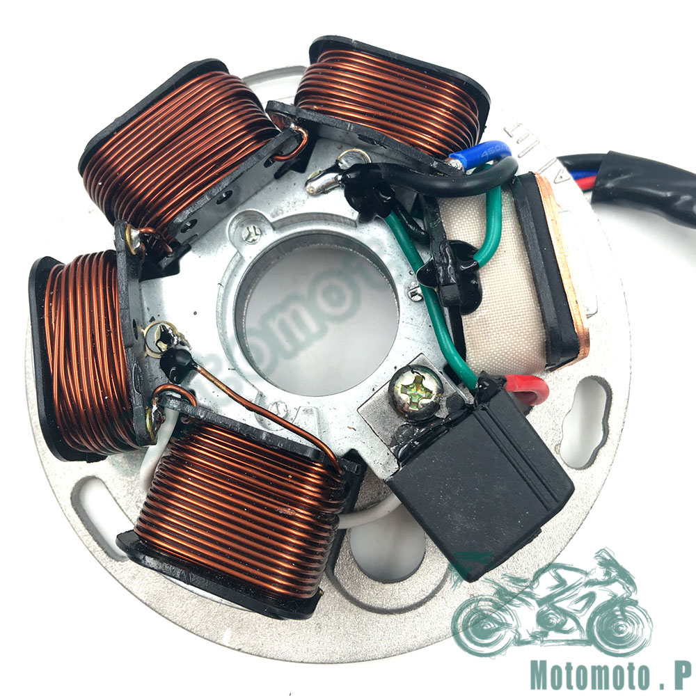 US $51 0 15% OFF|Big Sale Motorcycle PIAGGIO Generator Parts Stator Coil  Comp For PIAGGIO VESPA PX125 150 200CC Free Shipping-in Engines from