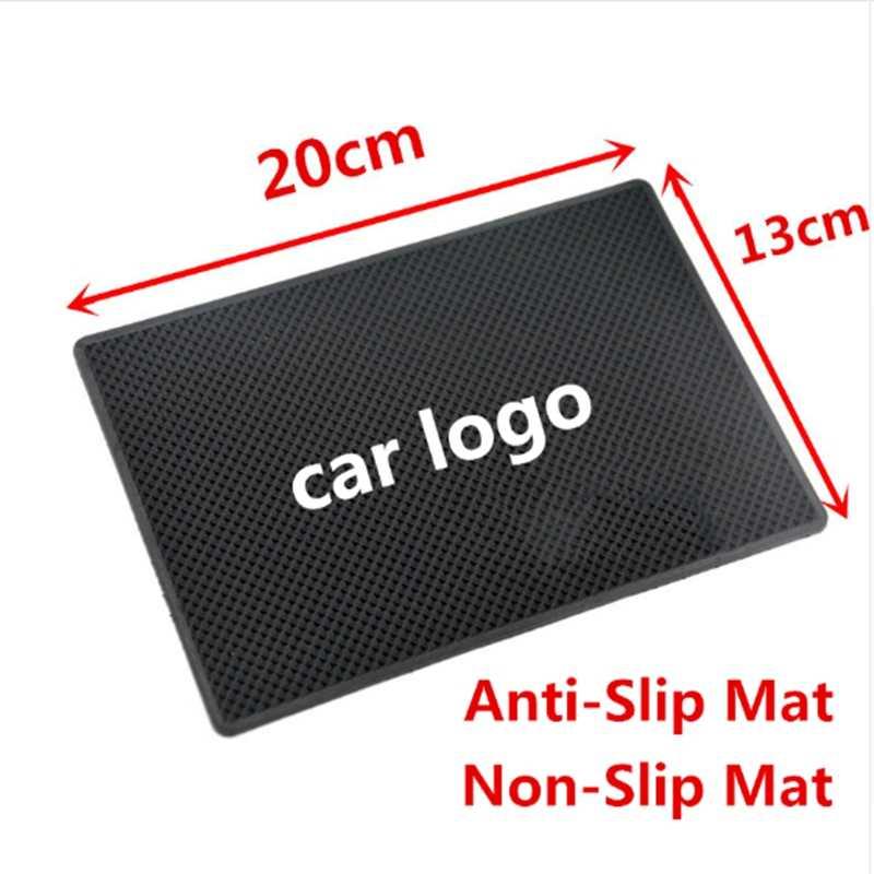車のロゴ非スリップマットアンチスリップマットパッド用シボレージャガーhaval dacia大宇フォルクスワーゲンプジョーシートポルシェmgサーブ吉利