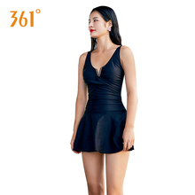 361 Women Sexy Swimsuit V Neck Underwire Swimwear Push Up Skirted Halter Ladies Bathing Suit Male One Piece