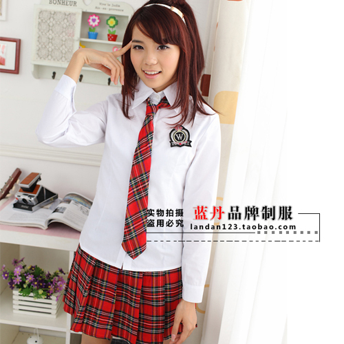ff8e387d12 Mujer Chica Uniforme Escolar Uniforme Camisa y Blusa de Manga Larga de  Desgaste de La Escuela