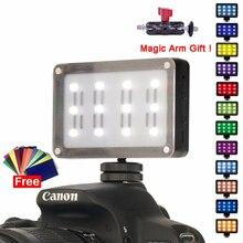 Mini Led Video Licht Op Camera Pocket Photo Light Met Filters Kleur Gels Voor Dslr Camera 3 As Gimbals VSAL M9 Aputure