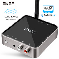 EKSA Bluetooth Transmitter APTX Bluetooth 5.0 Adapter For TV Headphones Speaker Playstation 4 Bluetooth Audio Receiver 3.5mm AUX