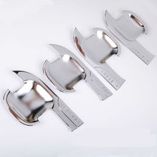 car door handle bowl insert trim cover 4pc ABS plastic chrome accessories for ford everest 13-19