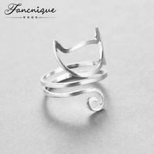 925 стерлингового серебра шпагат кошка кольцо молодая девушка ювелирных изделий 925 Серебряные кольца для женщин Регулируемый Бесплатная доставка