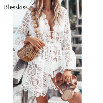 White Lace Beach Dress - Bikini Cover Up 2