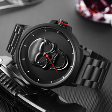 Watch Male Unique Design Skull Watches Men Women Luxury Brand Sports Quartz Military Steel Wrist Watch Men relogio masculino men s watch top brand pagani design vintage punk 3d skull watch men clock male luxury military aviator quartz relogio masculino