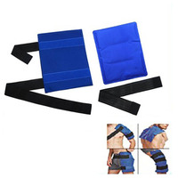 High Flexible Gel Ice Pack Wrap with Elastic Straps Therapy for Muscle Pain Bruises Injuries DOG88