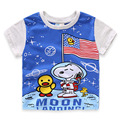 New Boys T Shirt Summer Moon Dog Cartoon Tops Tee Children Clothing Top Quality Baby Boys Toddler T-Shirts Girls T Shirt