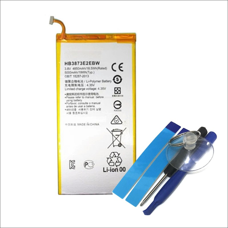 Brave Good Quality 4850mah Hb3873e2ebw Hb3873e2ebc Battery For Huawei Honor X1 7d-503l 7d-501u Batteries A Plastic Case Is Compartmentalized For Safe Storage Cellphones & Telecommunications Mobile Phone Parts