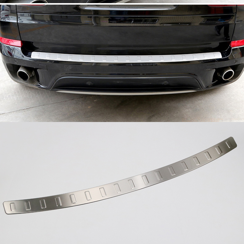 1 PCS Stainless Steel Exterior Rear Boot Trunk Fender Plate Trim For BMW X5 E70 2008-2013 stainless steel side door body molding cover trim for bmw x5 e70 2008 2013