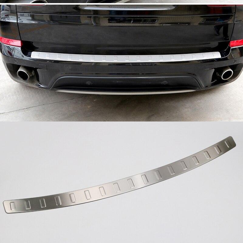 1 pièces En Acier Inoxydable Extérieur Coffre Arrière Plaque de Garde-Boue Pour BMW X5 E70 2008-2013