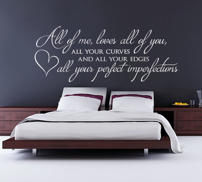 All Of Me Loves All Of You Wall Sticker Home Decor Bedroom